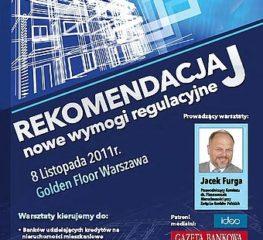 Rekomendacja J – Nowe wymogi regulacyjne